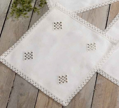 Hardanger w/ 11 Ct Aida Squares White 55 In W