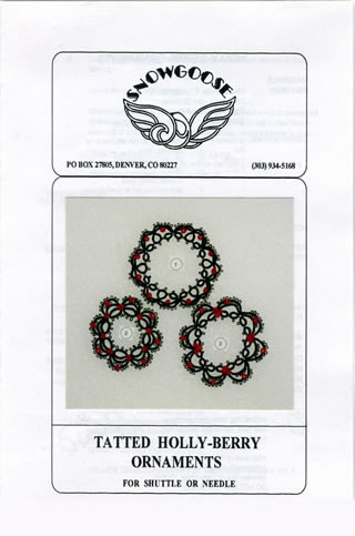 Tatted Holly-Berry Ornaments