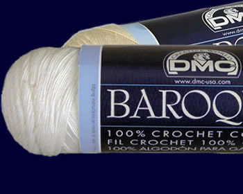 DMC Baroque Crochet Cotton - White