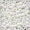 MH Size 6 Glass Beads - 16601 - White Opal
