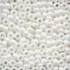 MH Size 8 Glass Beads - 18801 - White Opal