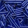 Mill Hill Bugle Beads, Med - Royal Blue - 11/0 x 9mm