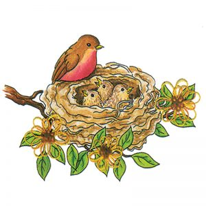 Designer Greeting Cards - TK10 - Robin's Nest