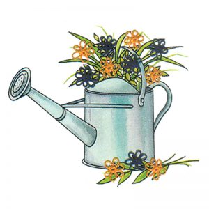 Designer Greeting Cards - TK11 - Watering Can