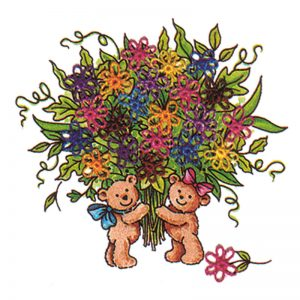 Designer Greeting Cards - TK01 - Bears Bouquet