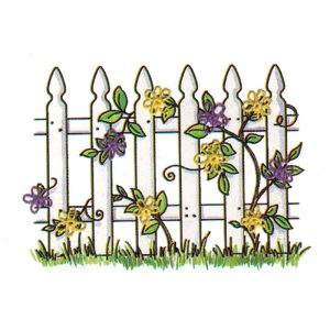 Designer Greeting Cards - TK20 - Picket Fence