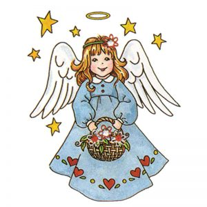 Designer Greeting Cards - TK24 - Country Angel