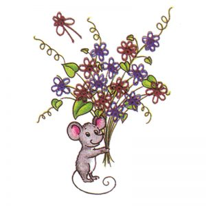 Designer Greeting Cards - TK02 - Mouse Bouquet