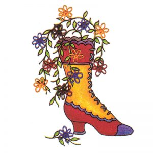 Designer Greeting Cards - TK03 - Victorian Boot