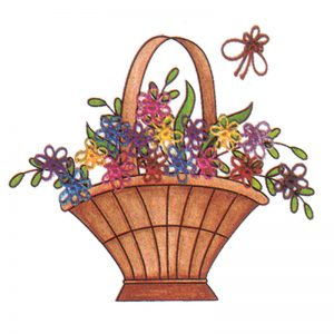 Designer Greeting Cards - TK04 - Floral Basket