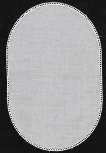 Cotton White Oval Doilies Straight 9in x 6in
