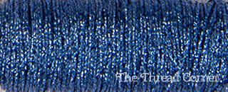 Kreinik Metallic 8 - 4010HL - Indigo Blue High Lustre