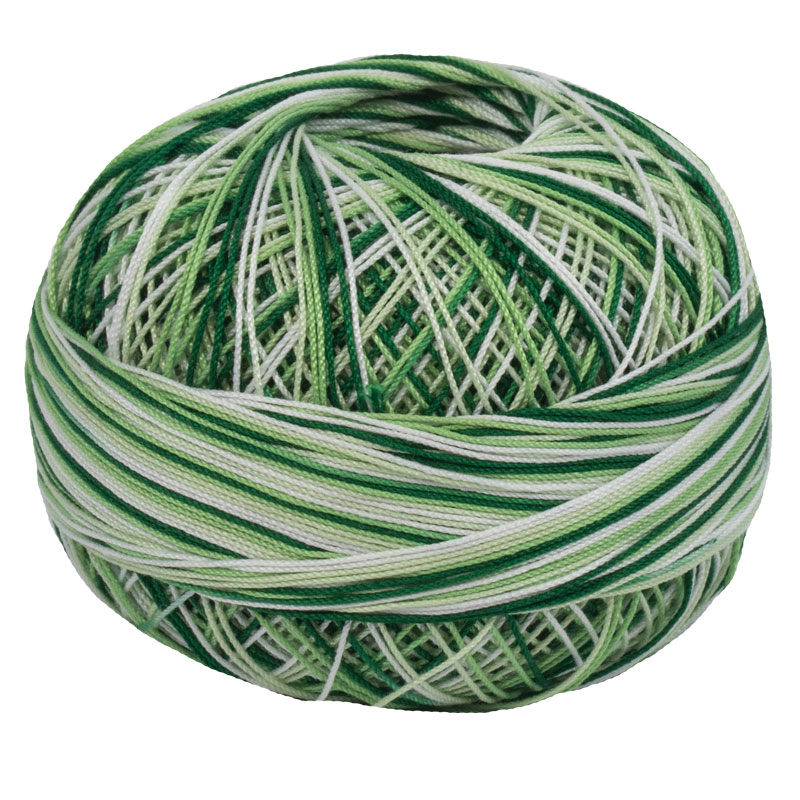 Lizbeth Thread 10 - (152) Christmas Green Mix