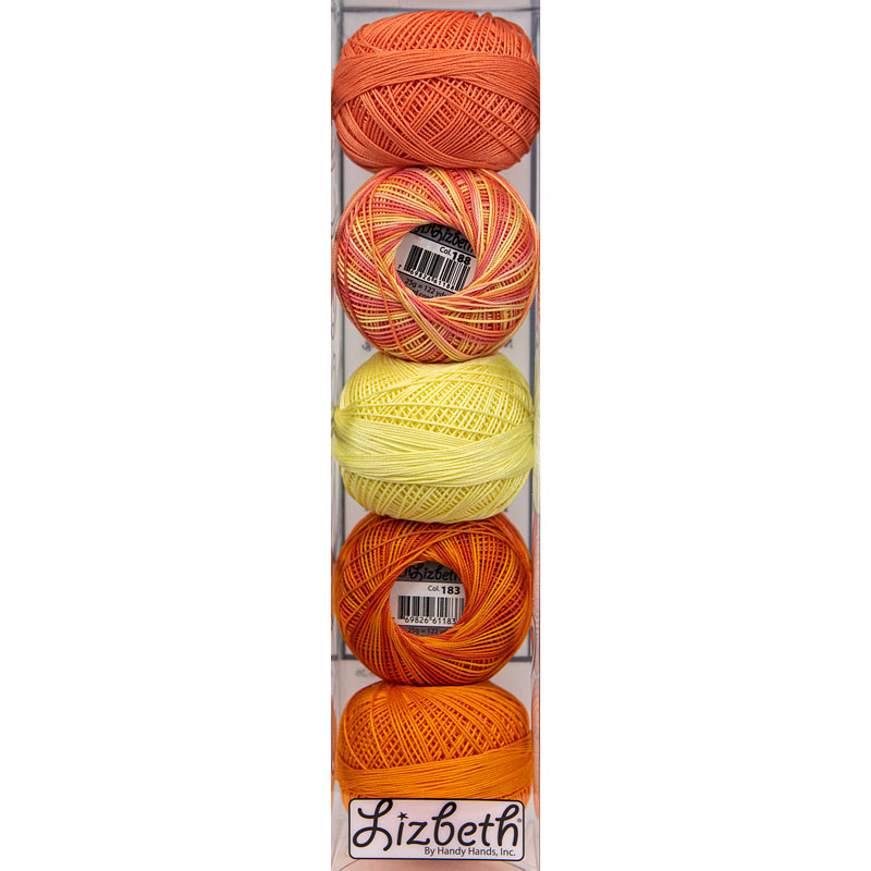 Lizbeth Specialty Pack - Orange Zest Mix - Size 40