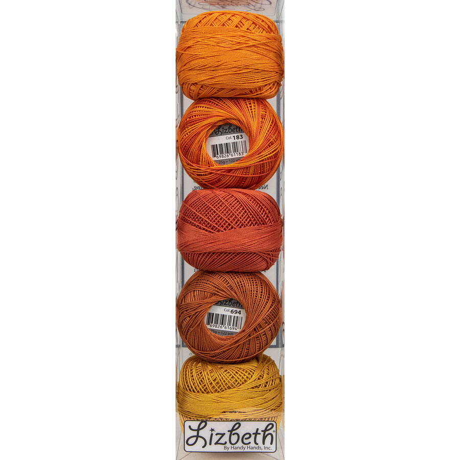 Lizbeth Specialty Pack - Autumn Leaves Mix - Size 40