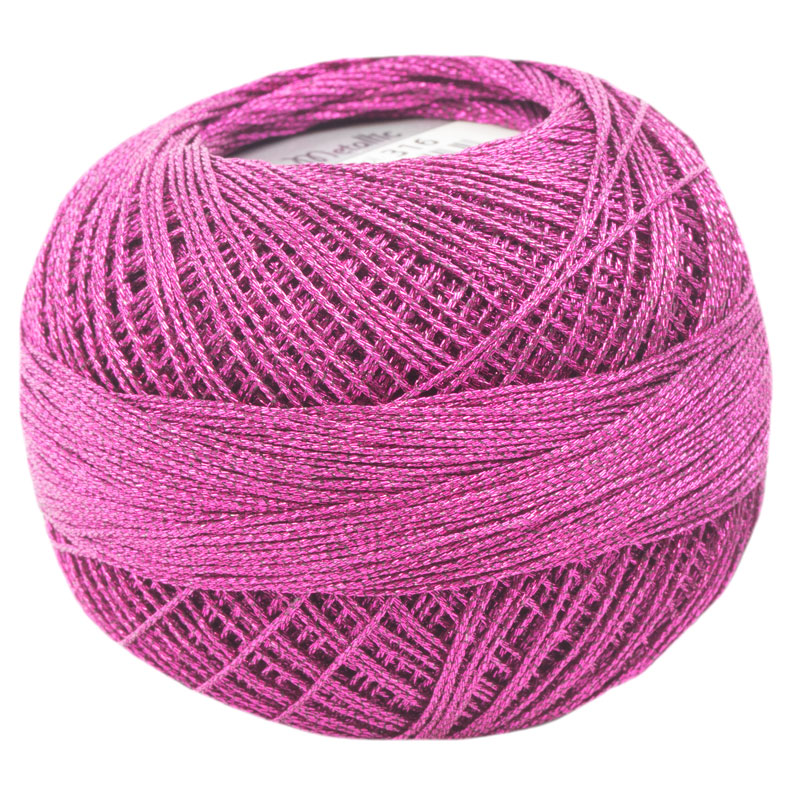 Lizbeth Thread LizMetallic 20 - (316) Raspberry Pink