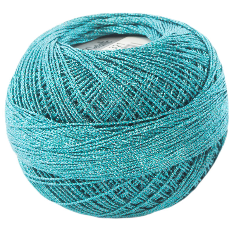 Lizbeth Thread LizMetallic 20 - (321) Turquoise Green
