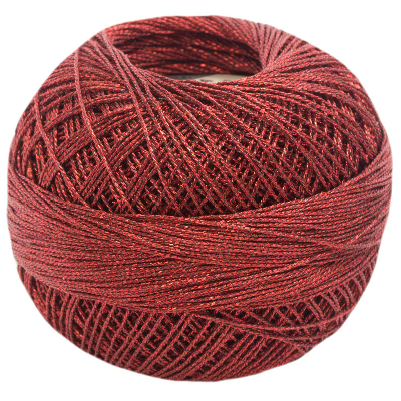 Lizbeth Thread LizMetallic 20 - (324) Christmas Red