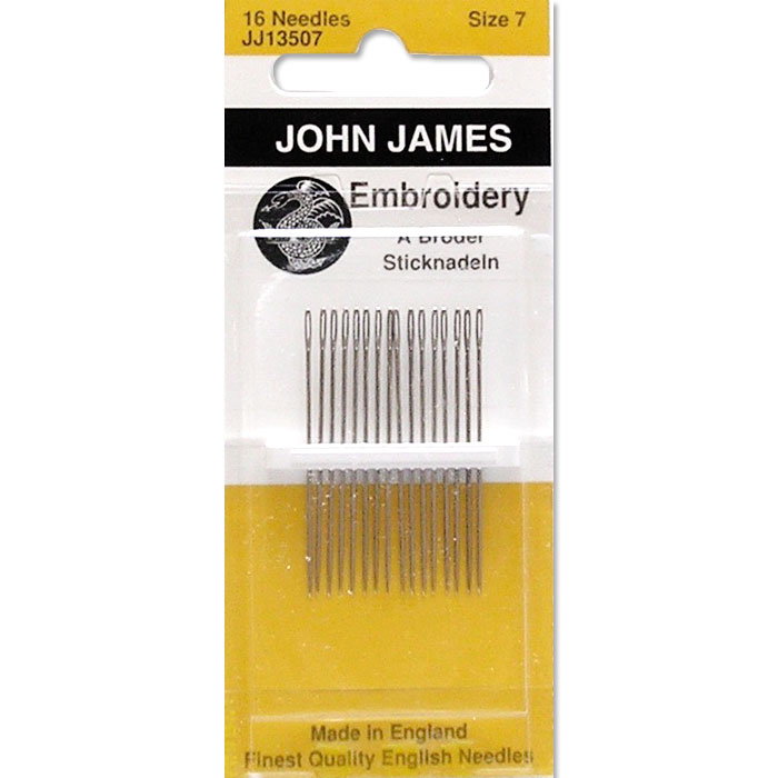 John James Embroidery, Crewel, Size 7