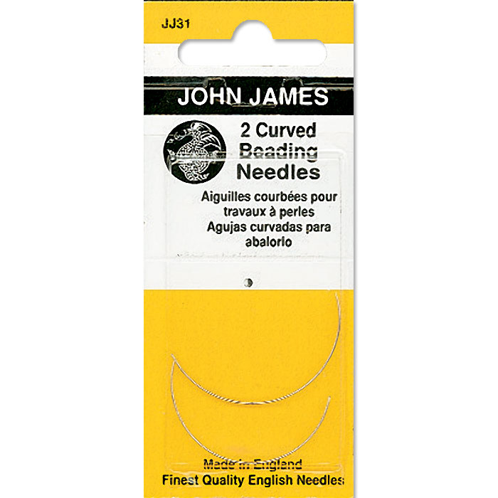 John James Curved Beading Needles, Size 10