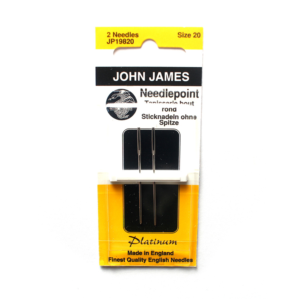 John James Tapestry Platinum Needles, Size 20