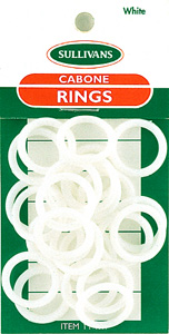Sullivans Cabone Rings, 19mm