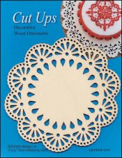 Cut-Up Wood Lace Ornament, Style A