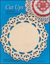 Cut-Up Wood Lace Ornament, Style D