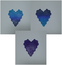 Heart Tatting Plate - Large Blue Gradient