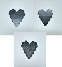 Heart Tatting Plate - Small Gray Gradient