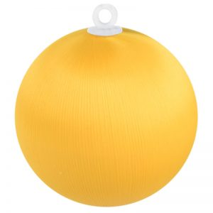 Bright Gold Satin Ball 3 inch