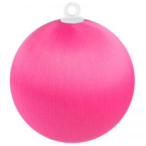 Bright Pink Satin Ball 3 inch
