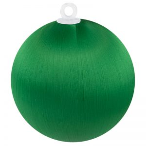 Christmas Green Satin Ball 3 inch