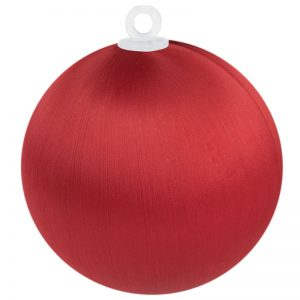 Christmas Red Satin Ball 3 inch