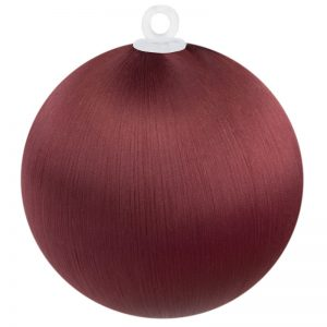 Burgundy Satin Ball 3 inch