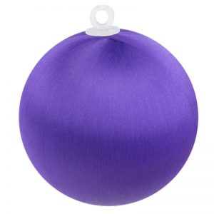 Purple Satin Ball 2.5 inch