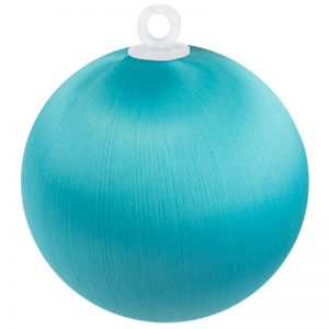 Teal Satin Ball 2.5 inch