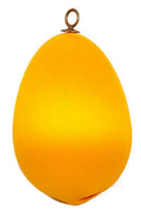 Bright Gold Satin Egg 3.5 inch