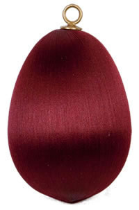 Burgundy Satin Egg 3.5 inch
