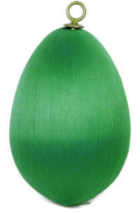 Christmas Green Satin Egg 3.5 inch
