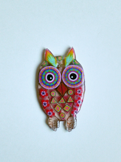 Japanese Tatting Shuttle - Owl (Flat)