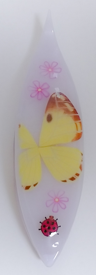 Japanese Tatting Shuttle - Colias Erate Butterfly on Lavender
