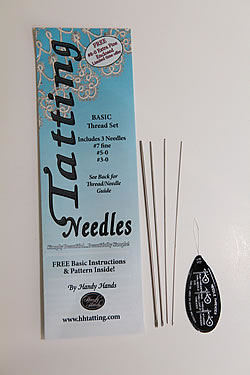 Tatting Needles for Threads, Set #7 fine, #5-0, #3-0